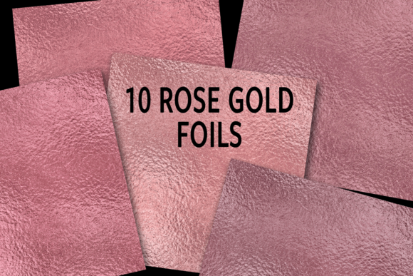 Print on Demand: Rose Gold Foils Graphic Textures By JulieCampbellDesigns