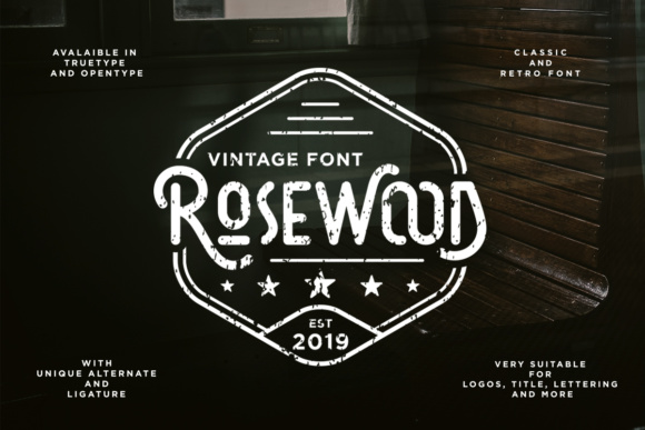 Print on Demand: Rosewood Display Font By dharmas