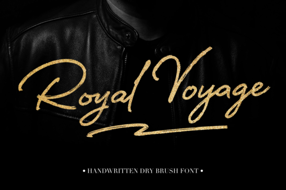 Print on Demand: Royal Voyage Script & Handwritten Font By Pasha Larin