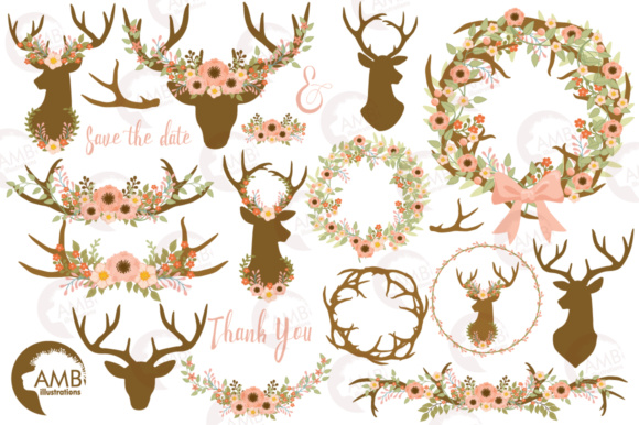 Rustic Antlers Clipart Graphic Illustrations By AMBillustrations - Image 4
