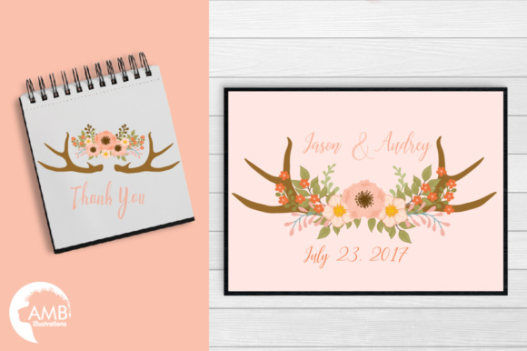 Rustic Antlers Clipart Graphic Illustrations By AMBillustrations - Image 5