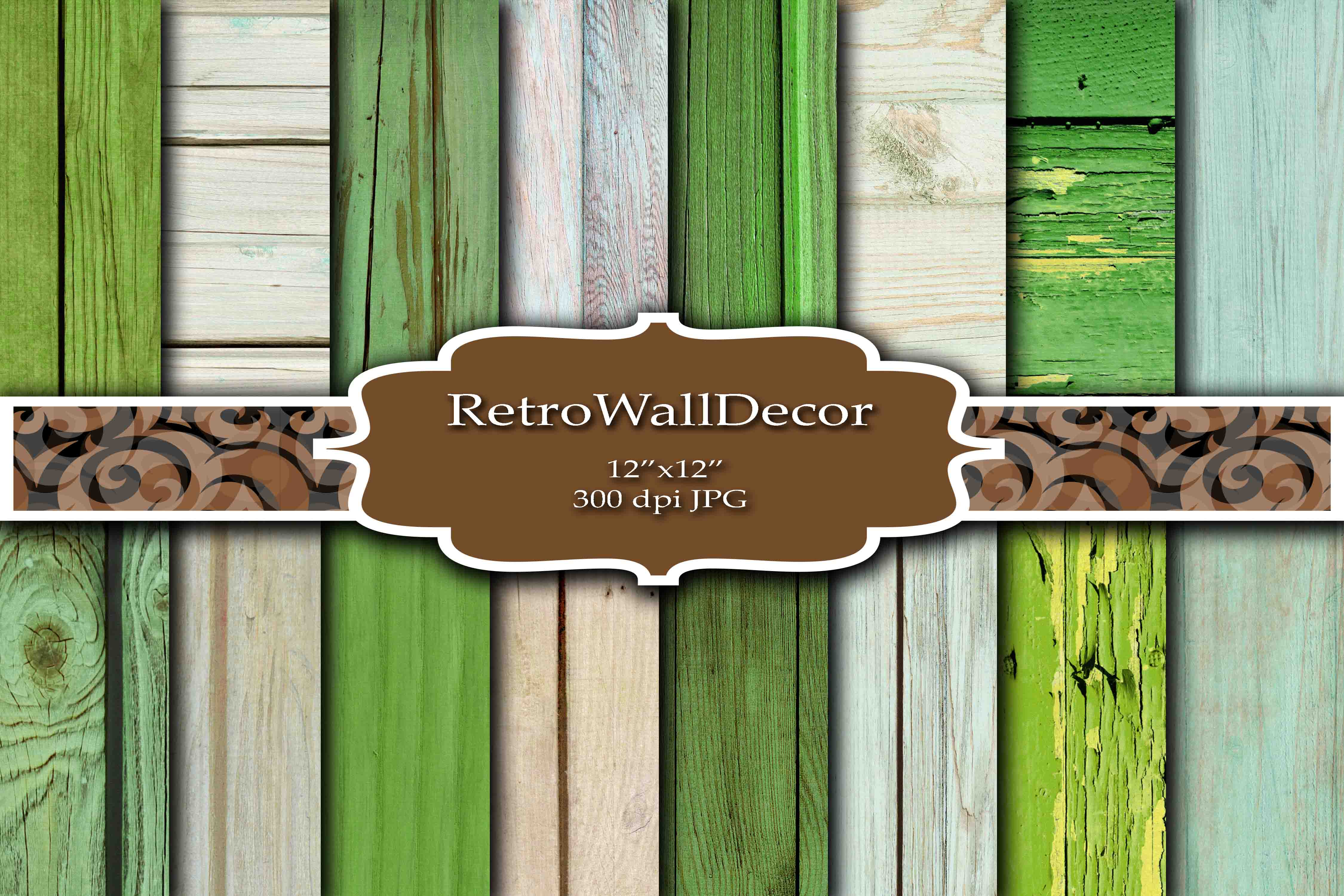 Download Free Rustic Wood Digital Paper Set Graphic By Retrowalldecor for Cricut Explore, Silhouette and other cutting machines.