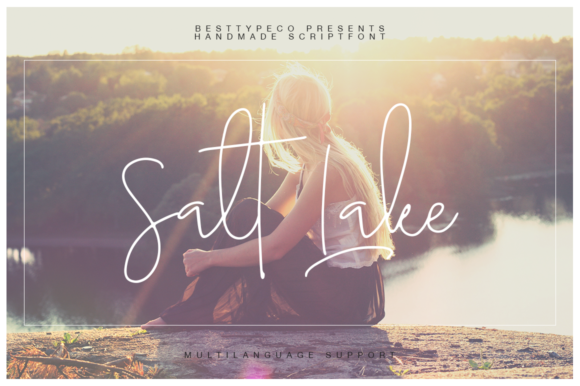 Print on Demand: Salt Lake Script & Handwritten Font By besttypeco