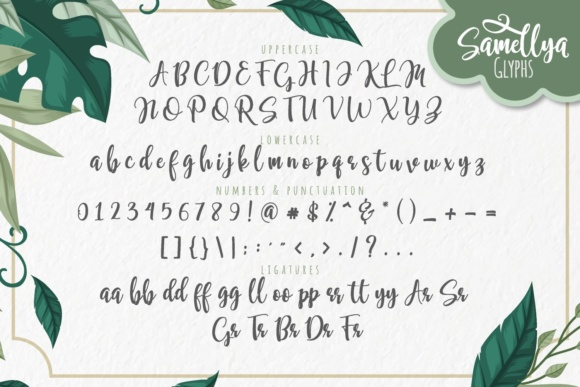 Print on Demand: Samellya Script & Handwritten Font By Mas Anis - Image 6