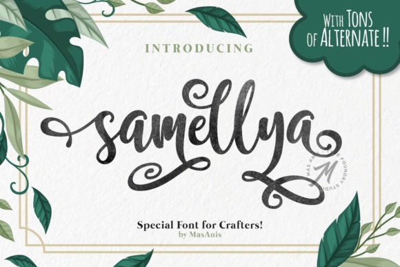 Print on Demand: Samellya Script & Handwritten Font By Mas Anis