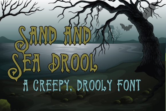 Print on Demand: Sand and Sea Drool Display Font By Illustration Ink