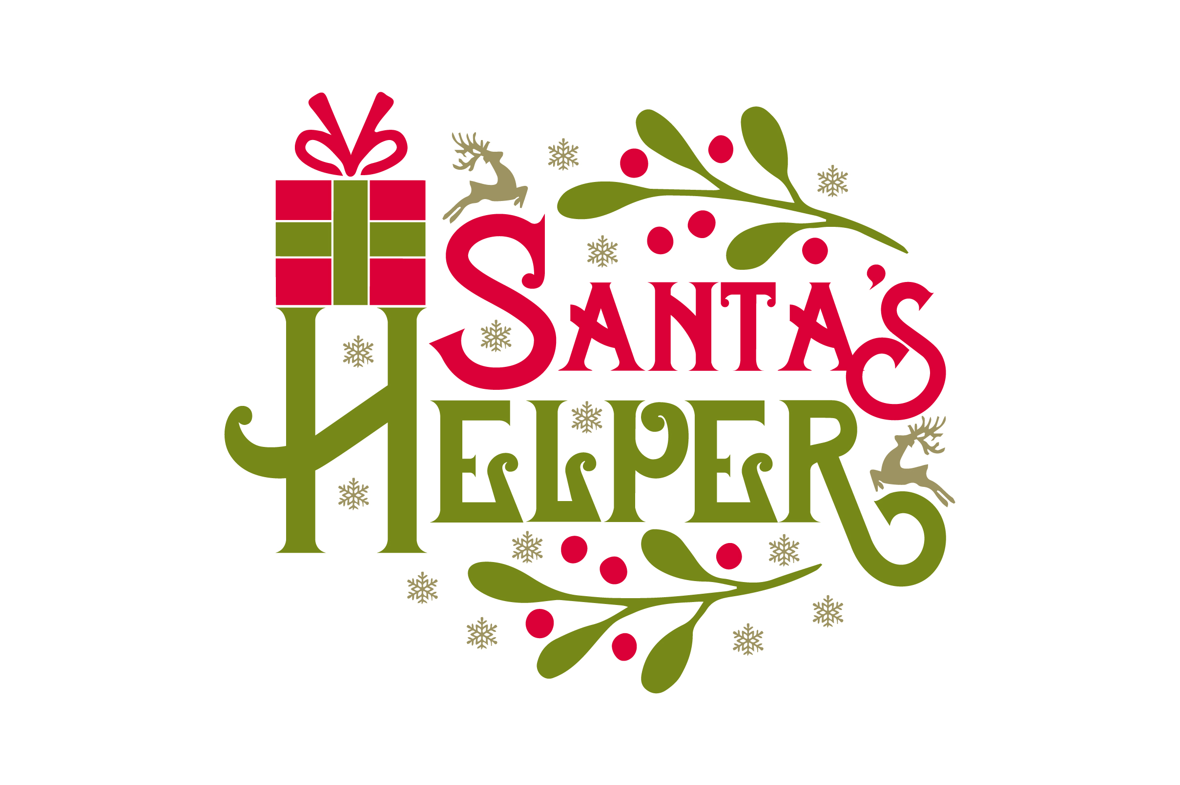 Download Free Santa S Helper Svg Cut File By Creative Fabrica Crafts for Cricut Explore, Silhouette and other cutting machines.