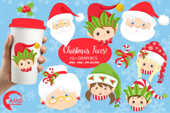 Download Free Santa And Friends Clipart Graphic By Ambillustrations Creative for Cricut Explore, Silhouette and other cutting machines.