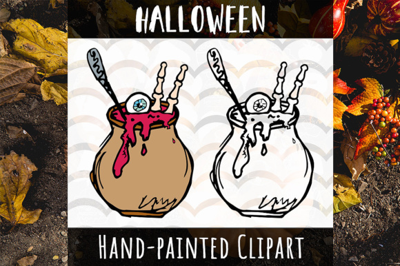Download Free Scary Halloween Pot Clip Art Graphic By Vector City Skyline for Cricut Explore, Silhouette and other cutting machines.