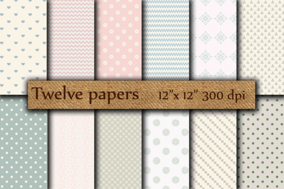Scrapbook Digital Papers Graphic Backgrounds By twelvepapers