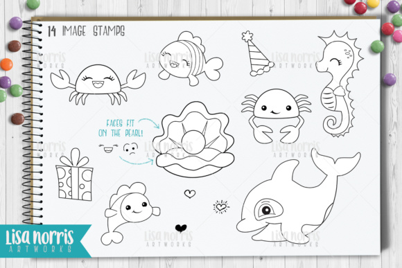 Sea Friends Digital Stamps and SVG Cutting Files