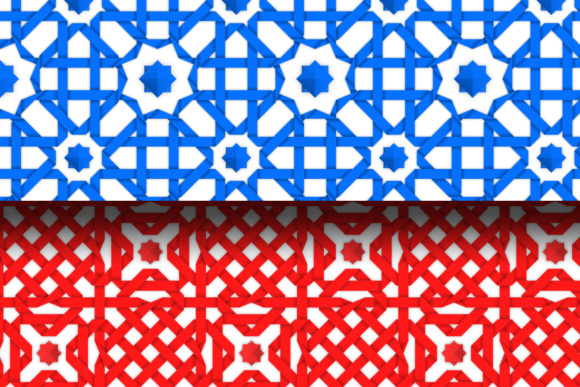 Seamless Patterns with Crossed Ribbons Graphic By Yurlick Image 2