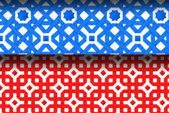 Seamless Patterns with Crossed Ribbons Graphic By Yurlick Image 3