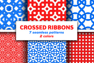 Seamless Patterns with Crossed Ribbons Graphic By Yurlick