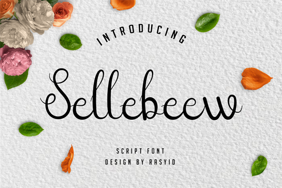 Print on Demand: Sellebeew Script & Handwritten Font By Rasshit.dsgn