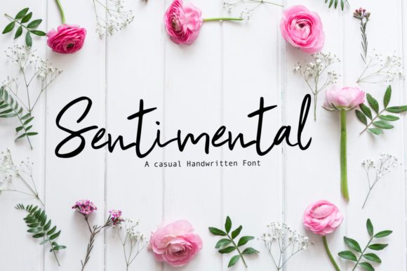 Print on Demand: Sentimental Manuscrita Fuente Por PaulaType