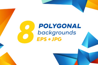 Set of Colorful Polygonal Backgrounds Graphic By Yurlick