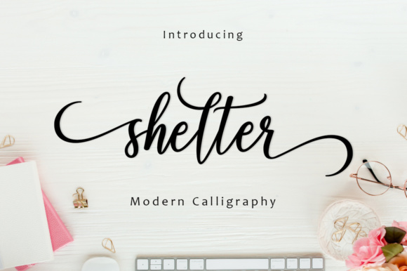 Print on Demand: Shelter Script Script & Handwritten Font By Amarlettering