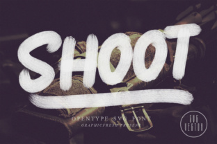 Print on Demand: Shoot Color Fonts Font By Graphicfresh