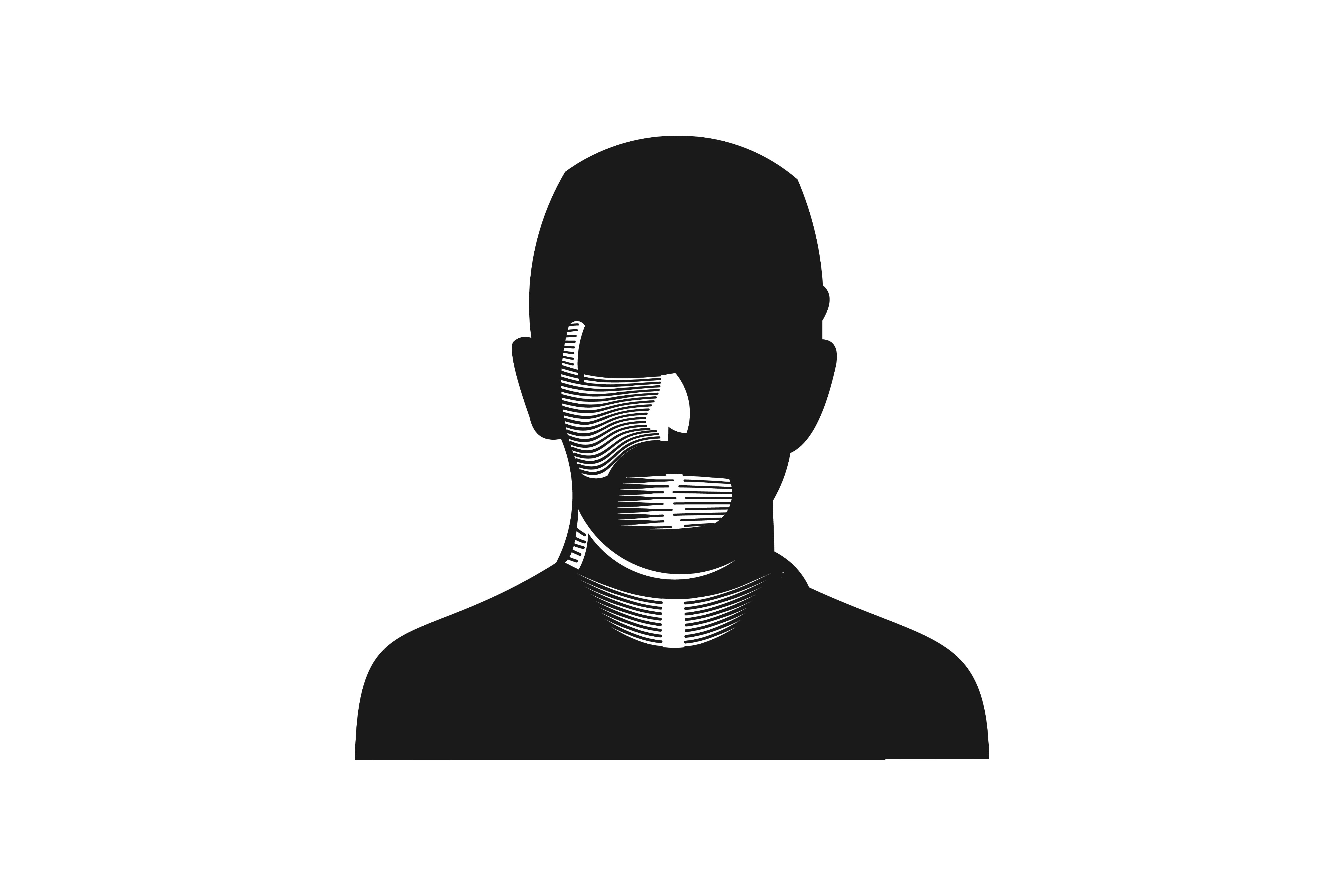 Download Free Silhouette Man For Hip Hop Logo Graphic By Yahyaanasatokillah for Cricut Explore, Silhouette and other cutting machines.