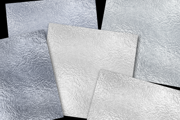 Print on Demand: Silver Foils Graphic Textures By JulieCampbellDesigns - Image 2