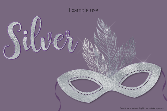 Print on Demand: Silver Foils Graphic Textures By JulieCampbellDesigns - Image 3