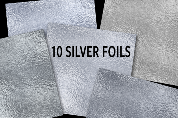 Print on Demand: Silver Foils Graphic Textures By JulieCampbellDesigns