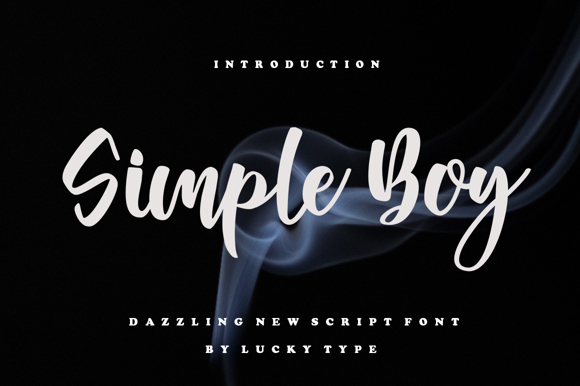 Download Free Simple Boy Font By Luckytype Font Creative Fabrica for Cricut Explore, Silhouette and other cutting machines.