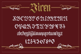 Print on Demand: Siren Blackletter Font By maghrib