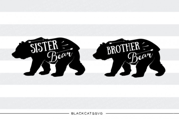 Sister Bear and Brother Bear SVG Graphic Crafts By BlackCatsMedia