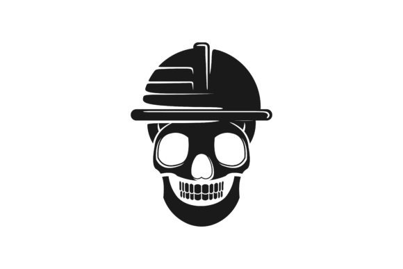 Download Free Skull Helmet Safety From Danger Logo Graphic By for Cricut Explore, Silhouette and other cutting machines.