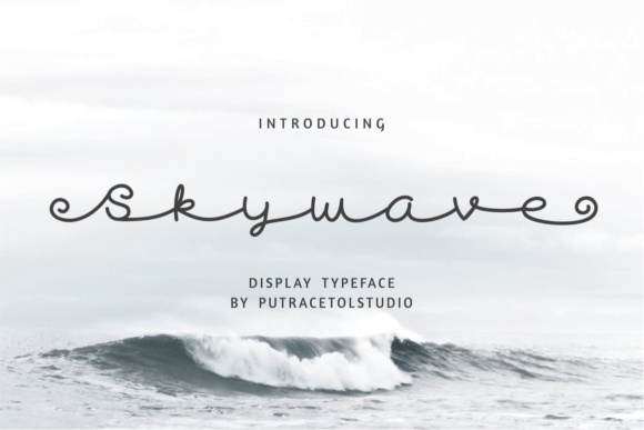 Print on Demand: Skywave Display Font By putracetol