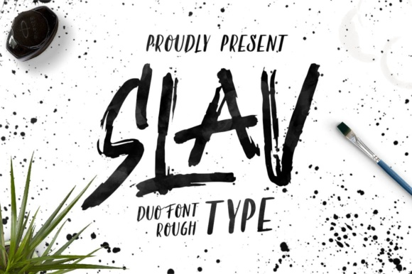 Print on Demand: Slav Display Font By maghrib