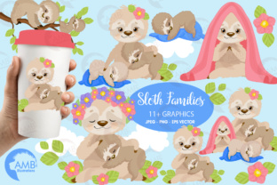 Sleepy Family Clipart Graphic Illustrations By AMBillustrations
