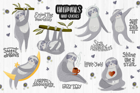 Print on Demand: Sloth Adventures - Big Graphic Set Graphic Illustrations By Red Ink - Image 4