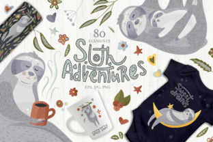 Sloth Adventures - Big Graphic Set Graphic By Red Ink