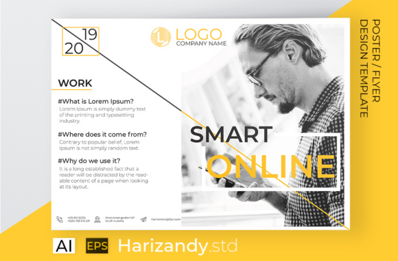 Smart Online Flyer for Promotion Graphic Print Templates By harizandy