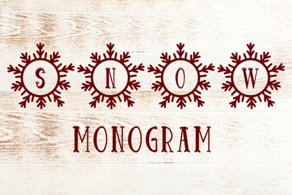 Print on Demand: Snow Monogram Decorative Font By Lickable Pixels