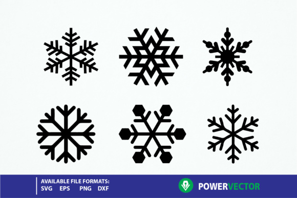 Download Free Snowflake Graphic By Powervector Creative Fabrica for Cricut Explore, Silhouette and other cutting machines.