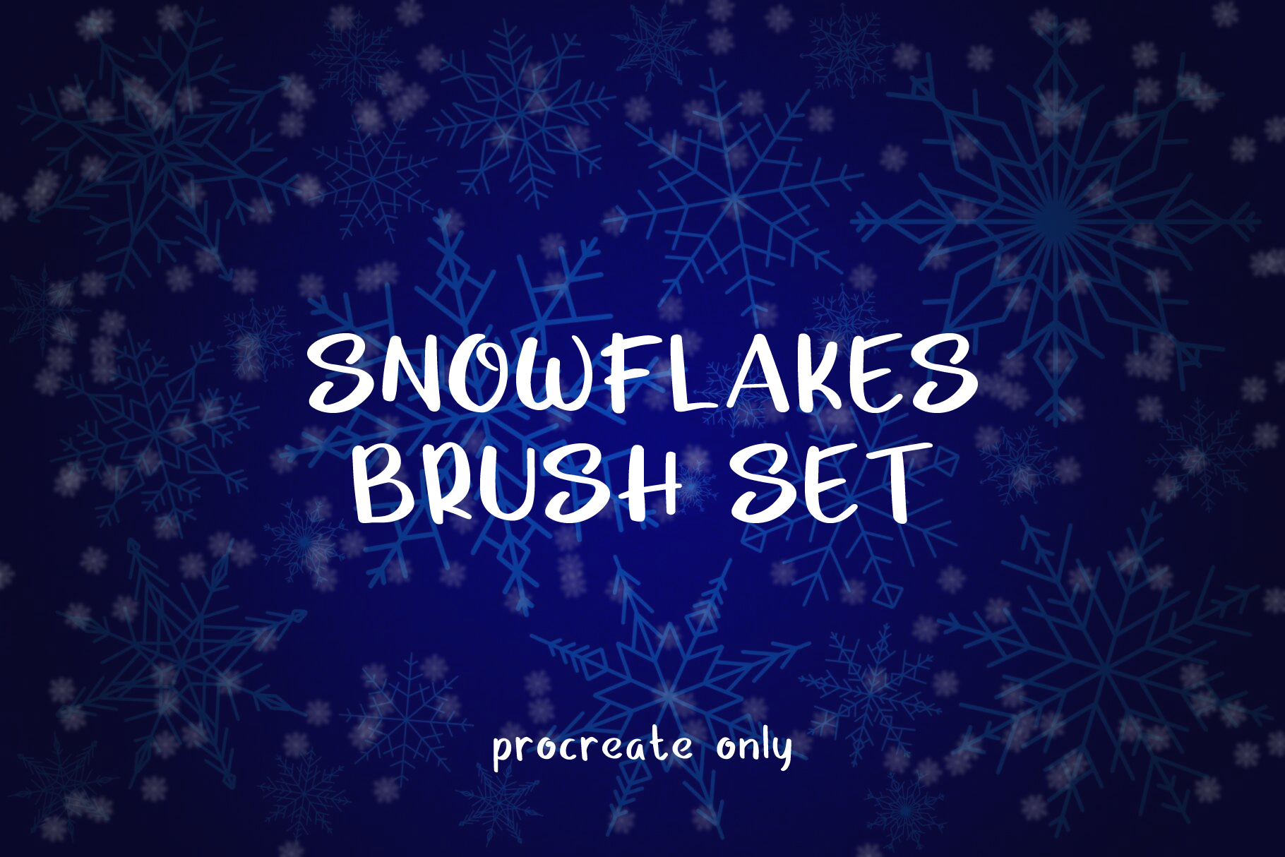 Download Free Snowflakes Brush Set For Procreate Graphic By Musan Creative for Cricut Explore, Silhouette and other cutting machines.
