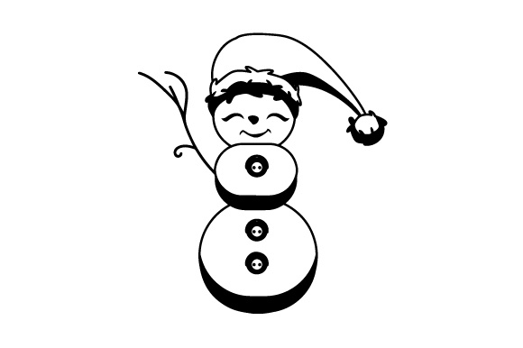 Download Free Snowman With Christmas Hat Svg Cut File By Creative Fabrica for Cricut Explore, Silhouette and other cutting machines.