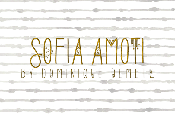 Print on Demand: Sofia Amoti Decorative Font By Dominique Demetz