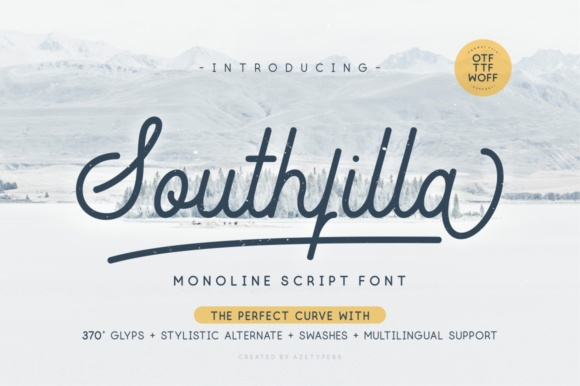 Print on Demand: Southfilla Script Script & Handwritten Font By Azetype