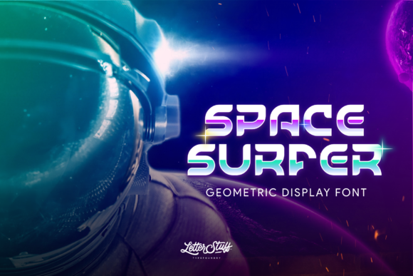 Print on Demand: Space Surfer Display Fuente Por herbanuts