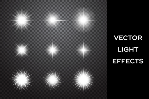 Sparkles. Vector Light Effects Set Graphic Illustrations By Yurlick