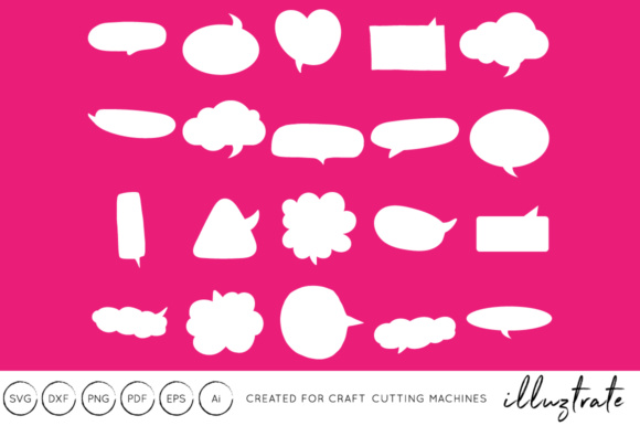 Print on Demand: Speech Bubbles SVG Cut File Graphic Crafts By illuztrate