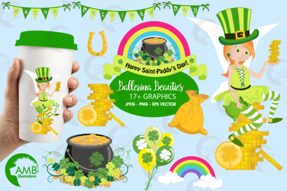 St. Patricks Clipart Graphic Illustrations By AMBillustrations