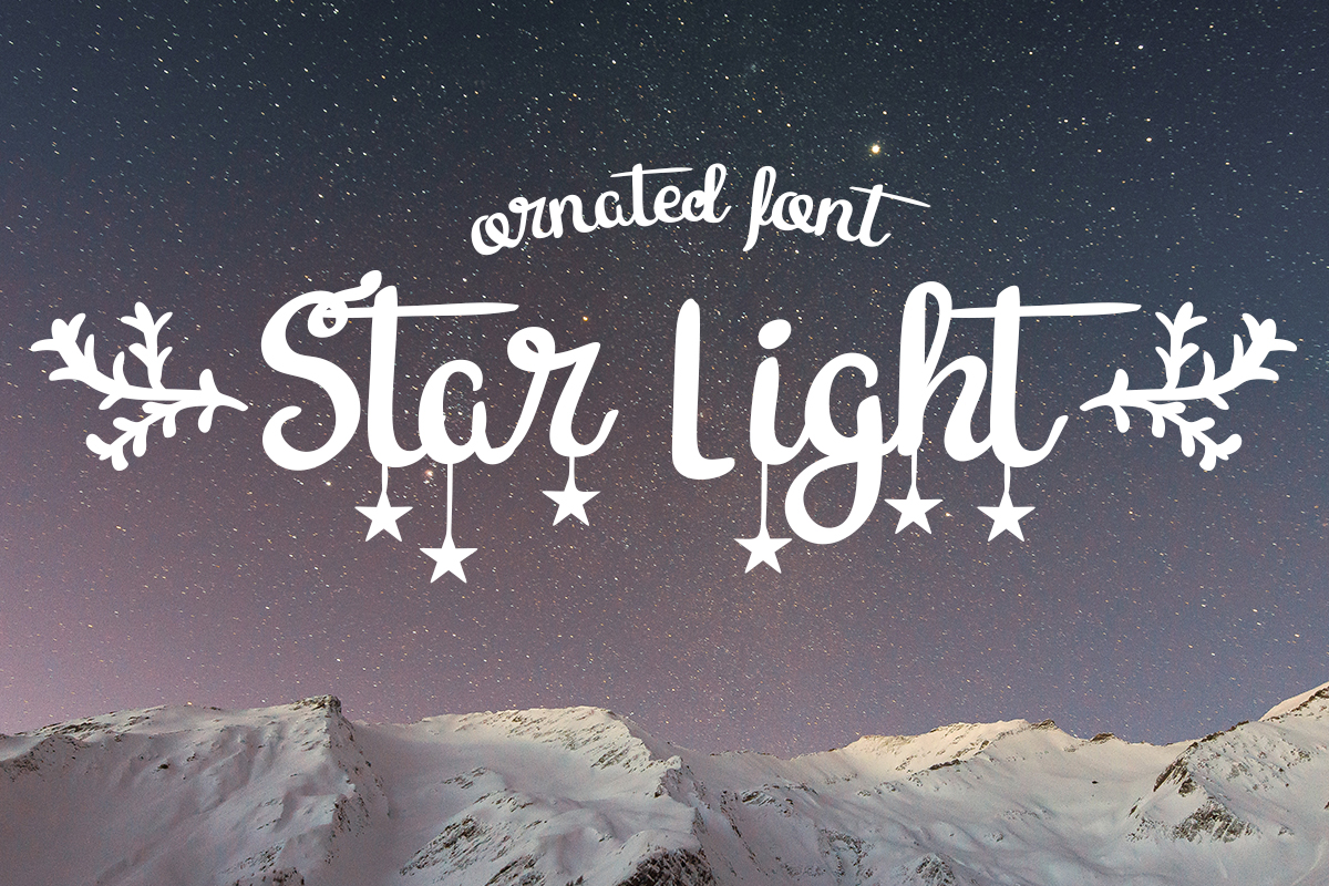 Download Free Star Light Font By Lickable Pixels Creative Fabrica for Cricut Explore, Silhouette and other cutting machines.