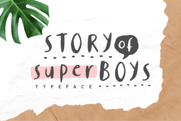 Print on Demand: Story of Super Boys Script & Handwritten Font By Keithzo (7NTypes) - Image 1