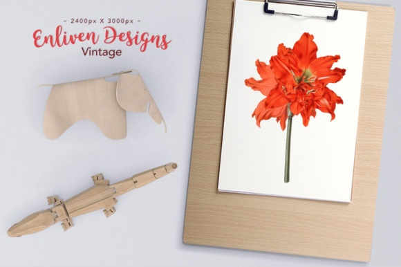 Striped Tubed Amaryllis Watercolor Graphic Illustrations By Enliven Designs - Image 2